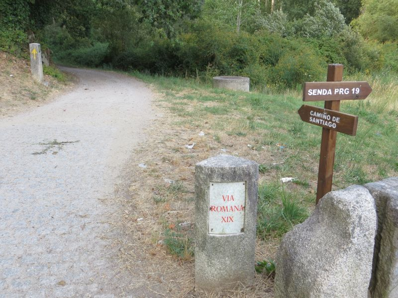 Camino Portugues at Tui, Spain